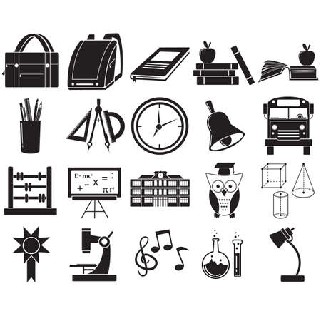 educational icons Stock Vector - 81536768