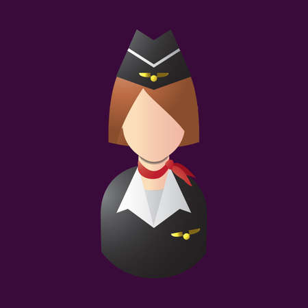 air hostess Stock Illustratie