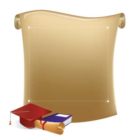 Graduation scroll Illustration