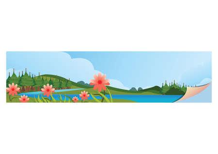 A landscape banner illustration.