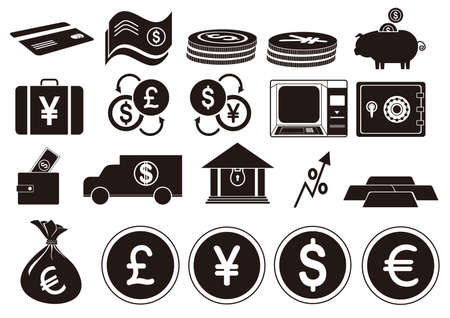 A banking icons illustration.
