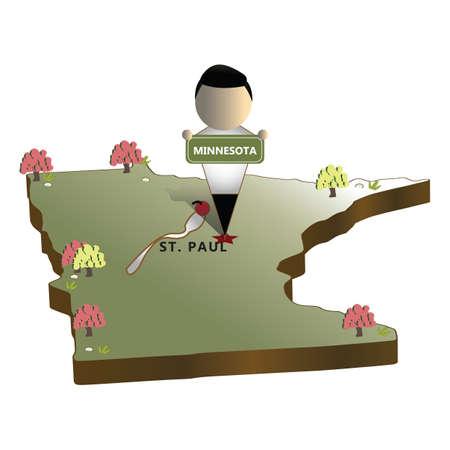 mapa del estado de minnesota