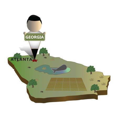 georgia state map