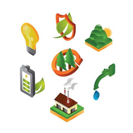verzameling van eco-vriendelijke pictogrammen