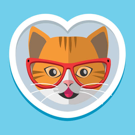 Cat wearing spectacles Illustration