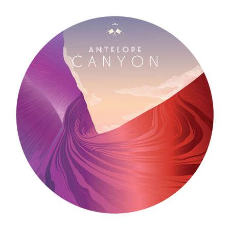antelope canyon  イラスト・ベクター素材