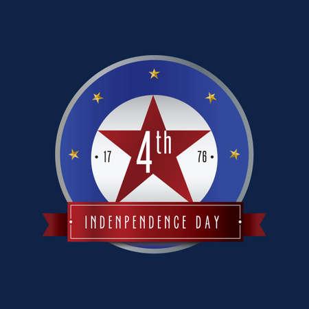 Etiqueta del día de la independencia de Estados Unidos Foto de archivo - 81470713