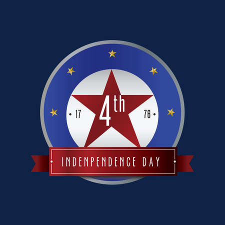 USA Independence day label 向量圖像