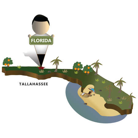 florida state map Ilustrace