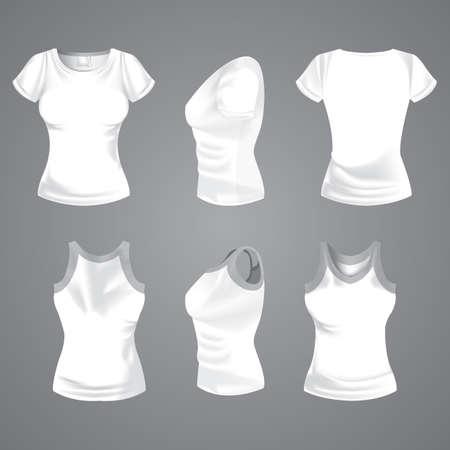 camiseta de mujer Ilustración de vector