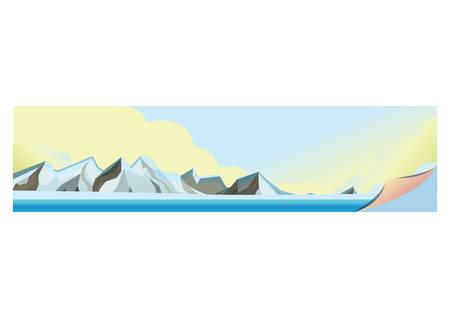 ice caps Ilustrace