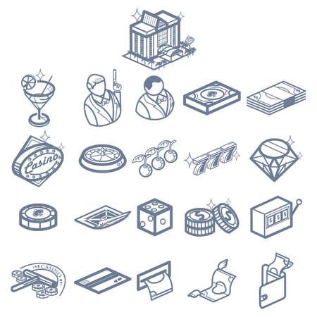 A casino icons illustration. Фото со стока - 81487160