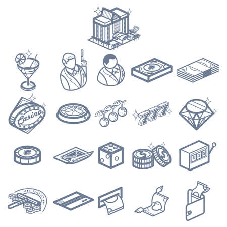 A casino icons illustration.