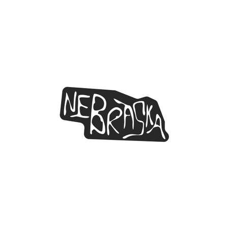 nebraska state map Vector Illustration