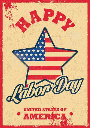 usa labor day poster Illustration