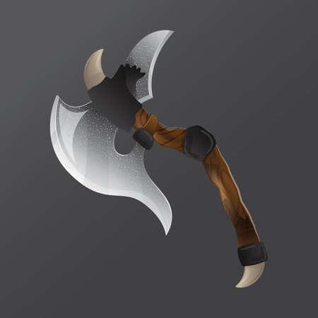 battle axe Vector Illustration