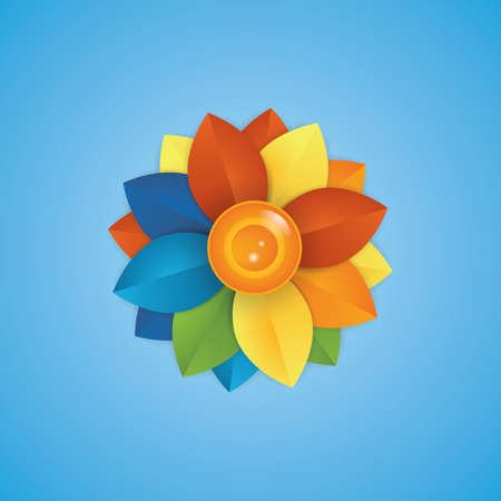 Colourful flower Stock Vector - 81538245