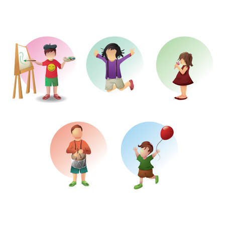 collection of children and activities