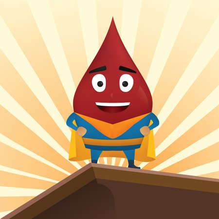 Bloed drop superheld Stock Illustratie