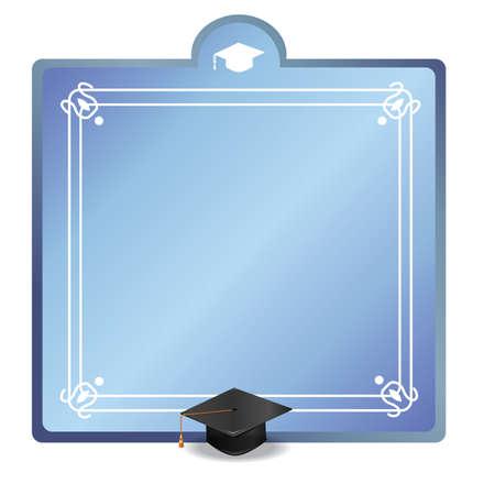 Graduation frame Ilustrace
