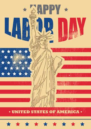 cartel del día de la independencia de estados unidos