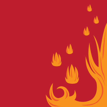 fire wallpaper Ilustrace