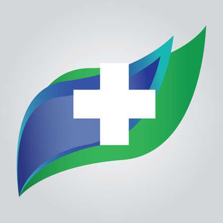 Leaf with cross Illusztráció