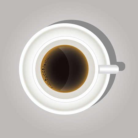 taza de cafe Ilustración de vector