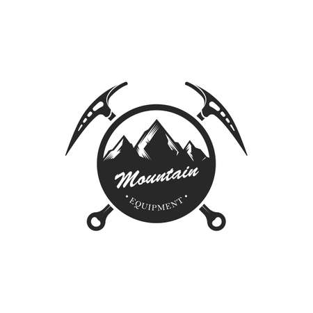 Etiqueta de montaña Foto de archivo - 81470719