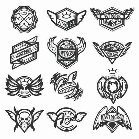 set of angel emblems