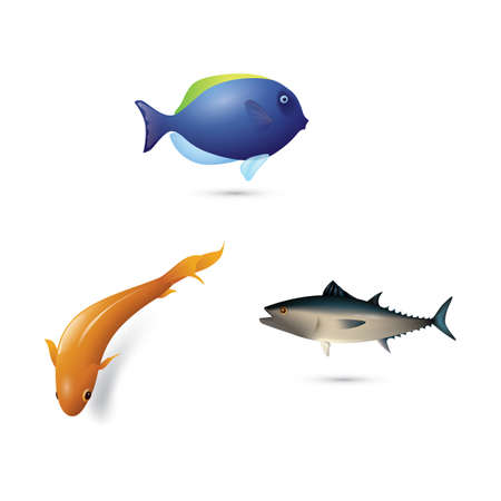 Fisch-Symbole Standard-Bild - 81536810
