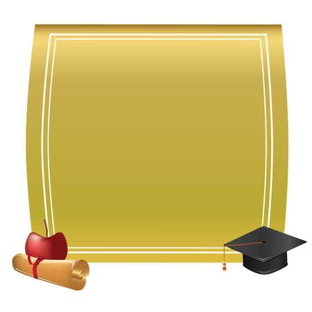 Graduation frame 向量圖像