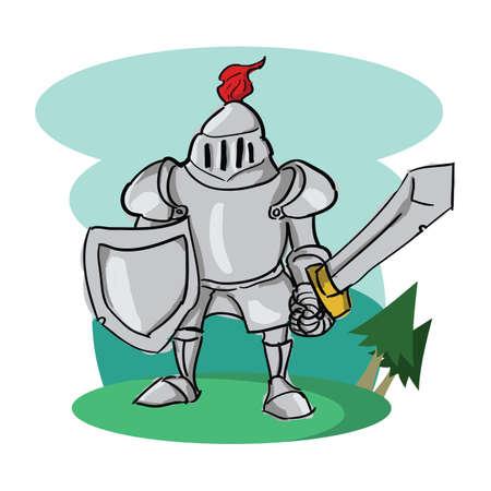ridder Vector Illustratie