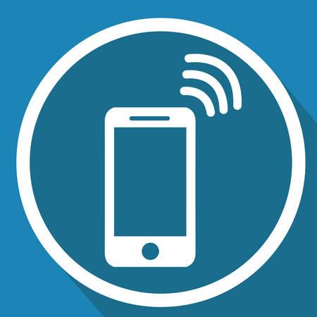 Wi-Fi 신호가있는 스마트 폰 일러스트