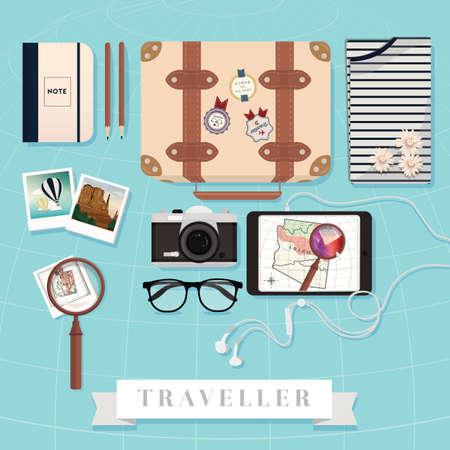 Reiseausrüstung Vektorgrafik