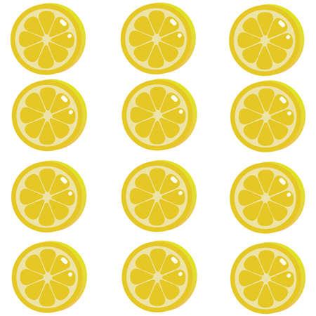 fondo de rodajas de limon Ilustración de vector