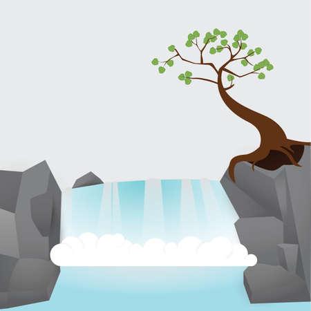 滝アイコン  イラスト・ベクター素材