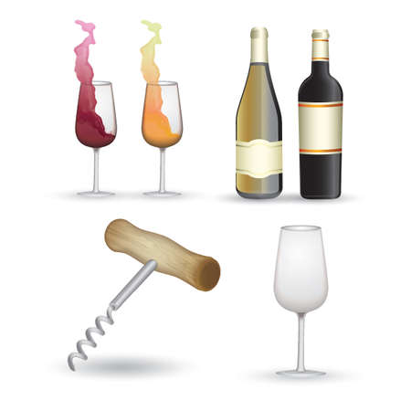wine collection Illustration