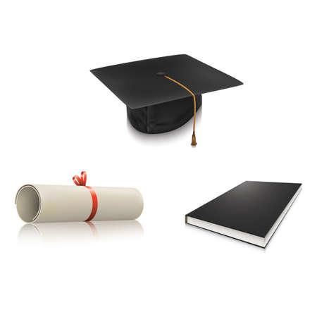 set of graduate icons Ilustração