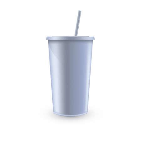 使い捨ての飲料カップ  イラスト・ベクター素材