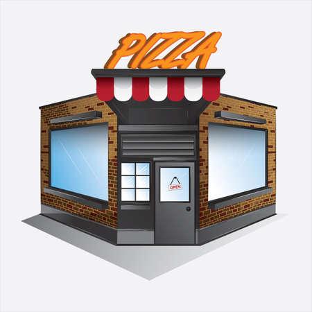 Magasin de pizza Banque d'images - 81536857