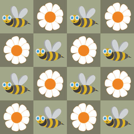 honey bee and flower background