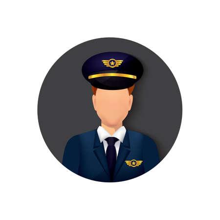 oficial de la fuerza aérea Ilustración de vector