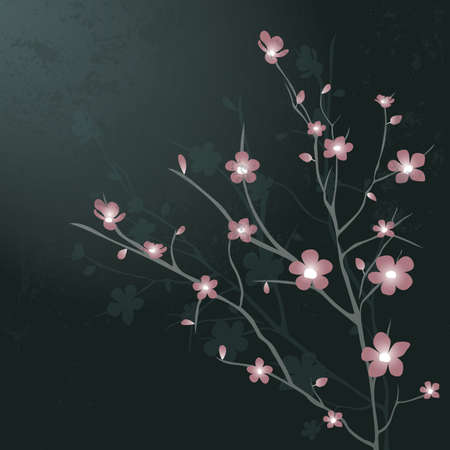 A cherry blossom flowers illustration. Illustration