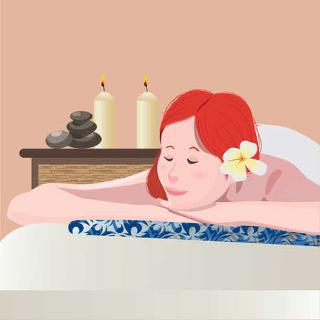 woman in spa Illustration