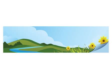 A landscape banner illustration.