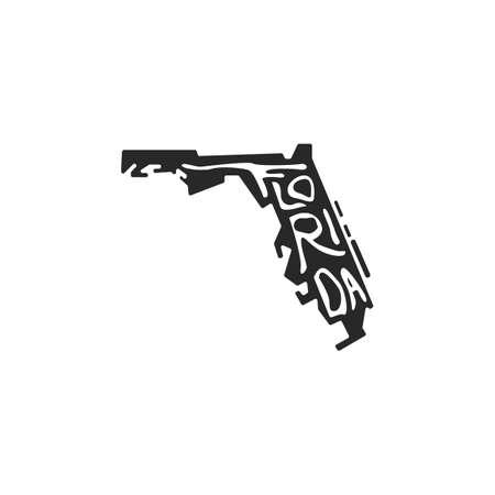 florida state map  イラスト・ベクター素材
