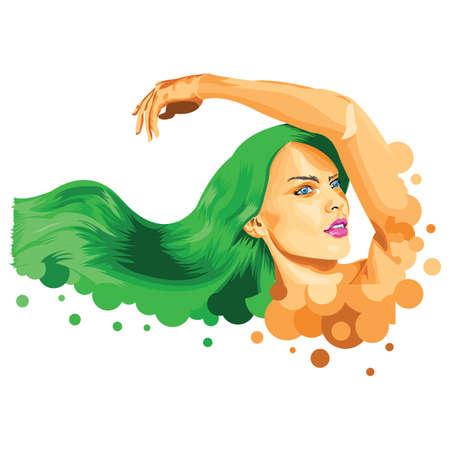 Abstract woman posing Illusztráció