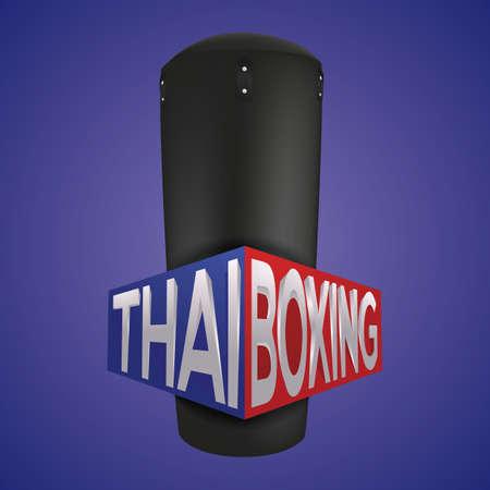 thai boxing Illusztráció