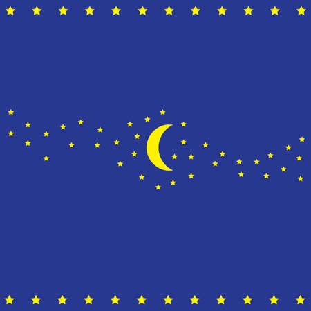 stars and moon Illustration